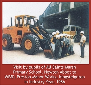 1986 school visit to ball clay works
