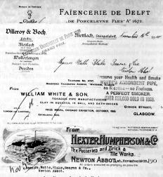 19th century letterheads