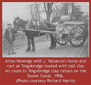 Ball clay transport by horse and cart