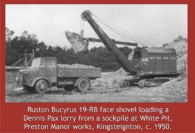 Ruston Bucyrus face shovel