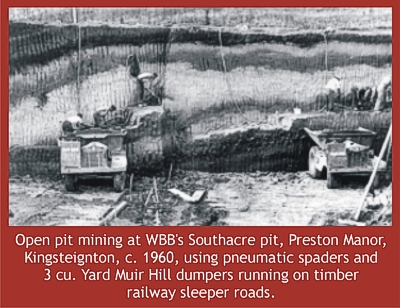 open pit mining Kingsteignton, 1960s