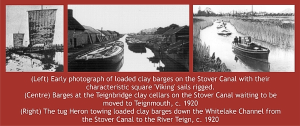 Ball clay transport by barge