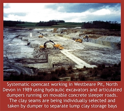 Ball clay opencast working