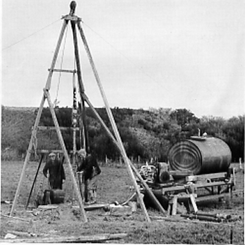 Pike Fayle drill rig in Dorset