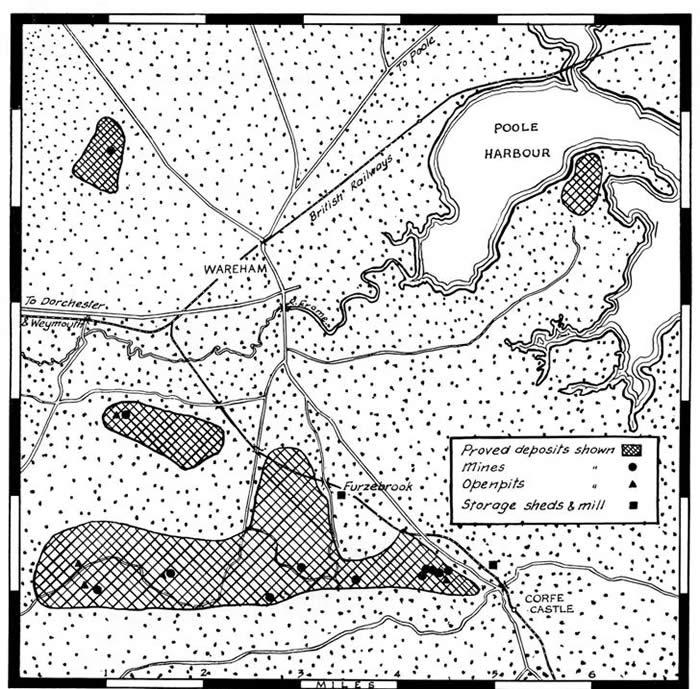 Dorset ball clay deposits