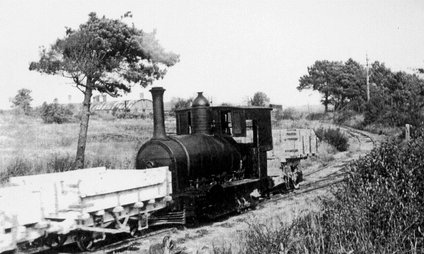 Dorset ball clays - steam loco Secundus