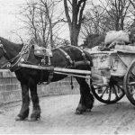 Amos Hewings with cart of ball clay at Teignbridge, 1906.