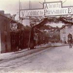 Banner in Market Street, Newton Abbot, 1902.