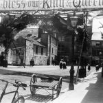 Banner in Market Street, Newton Abbot, June 1902.
