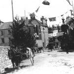 Banner in Market Street, Newton Abbot, 1901/2