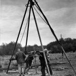 Hand drilling North Devon, 1950s