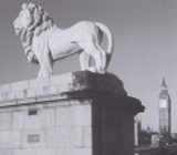 Coads Stone lion on Westminster bridge